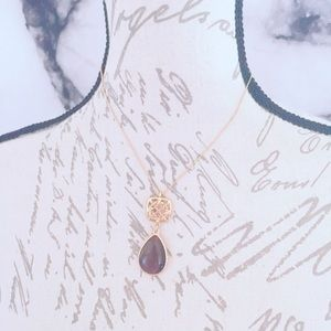 Liz and Co. Brown Glitzy Necklace